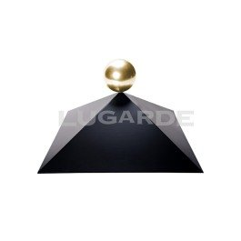 with Brass Ball Finial