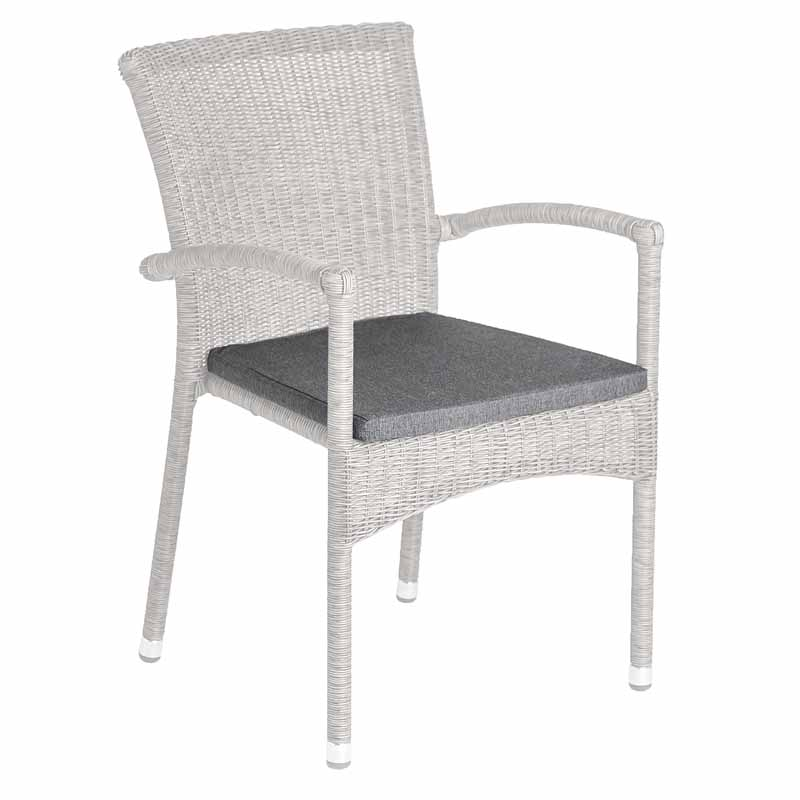 with Grey Armchair Cushion
