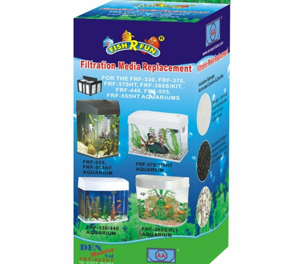 with Fish R Fun Replacement Media Pack