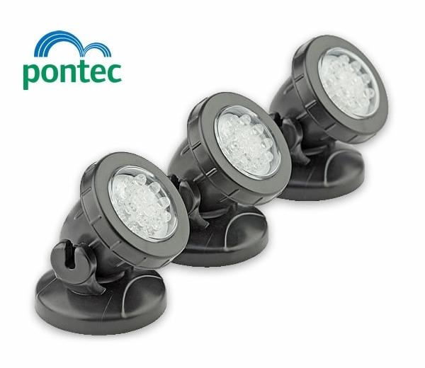 with PondoStar LED Underwater Spotlight Set