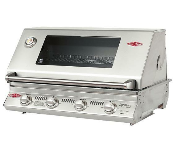 with Signature S3000S 4 Burner Built-In BBQ in Cast Iron