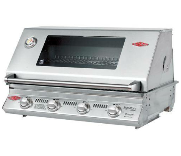 with Signature S3000S 4 Burner Built-In BBQ in Stainless Steel