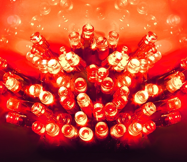 40 Light Set with RED bulbs and GREEN cable