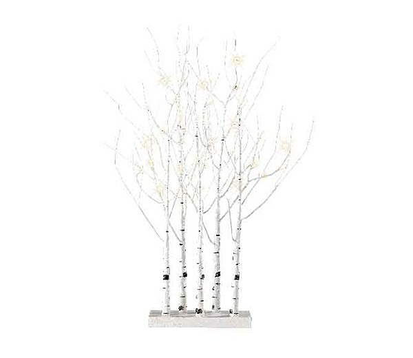 in White 90cm Tall with 48 LED Lights