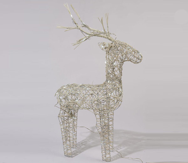 Cream Reindeer Design with Cool White LED's