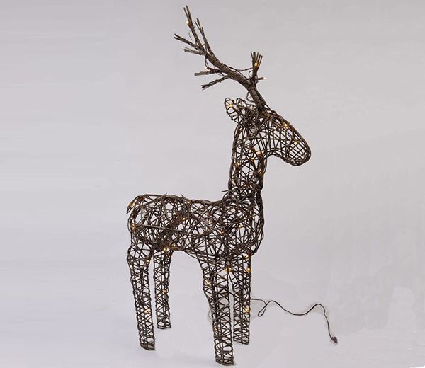 Brown Reindeer Design with Warm White LED's
