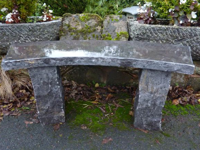 Rustic Curved Granite Bench Gardensite Co Uk