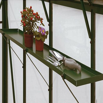 with 3ft Sheet Metal Shelves (Pair) in MATCHING COLOUR