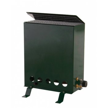 with Gas Powered 1.9KW Blue Flame Heater
