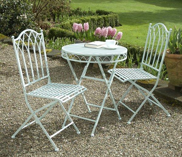 Versailles Metal Garden Furniture Bistro Set