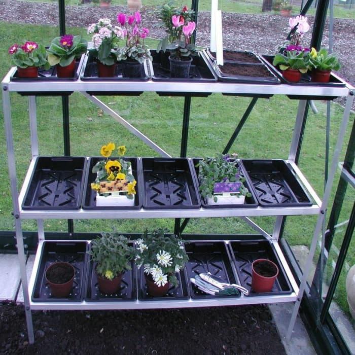 with Halls 3 Tier Seed Tray Unit and 15 Trays