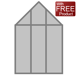 with Long Pane Toughened Glazing & FREE GREENHOUSE BASE OFFER