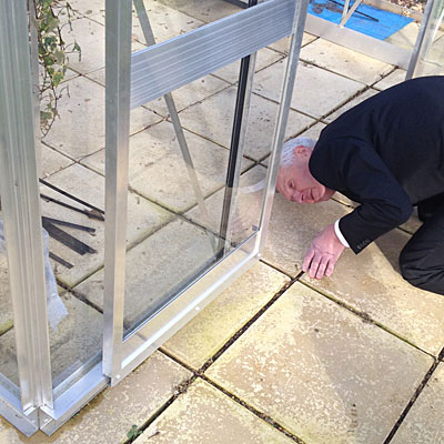 Robert Hall checks out the patented ZERO Threshold door system.