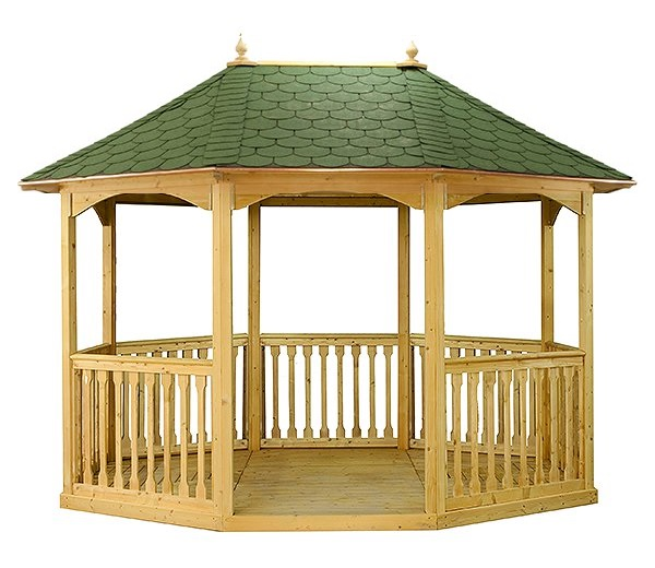 3.19m Pavilion Size with Green Felt Roof Tiles