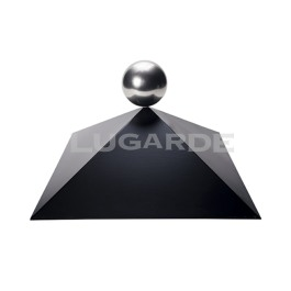with Chrome Ball Finial