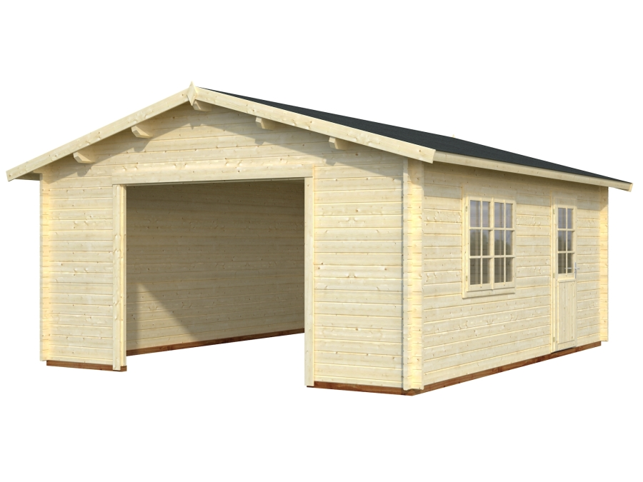 with Open Garage Design (No Garage Door)
