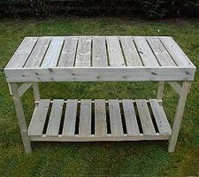 with 1.2m Bench with Shelf