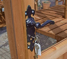 with Ornate Black Door Handle