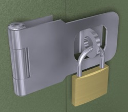 with Hasp and Padlock Set
