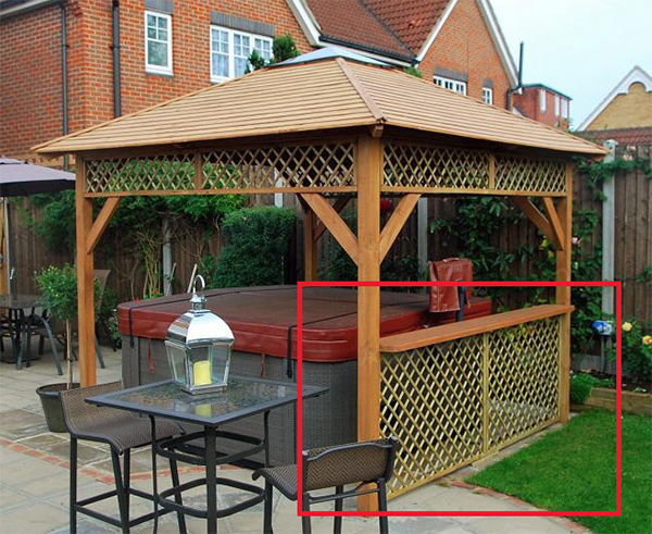 with Drink Shelf and Trellis Side Panel