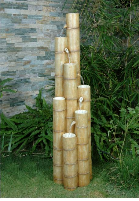 Large Bamboo Fountain Water Feature Gardensite Co Uk