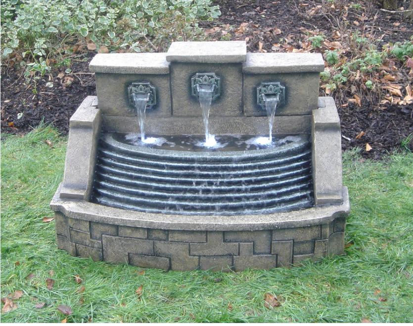 Spout Wide Stepped Fountain Water Feature Gardensite Co Uk