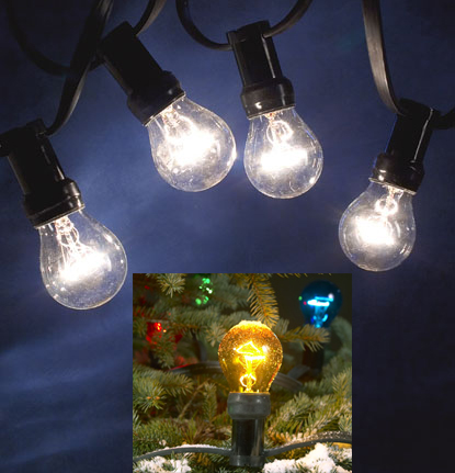 ... OUTDOOR Mains Voltage Large Bulb Light Set - GardenSite.co.uk
