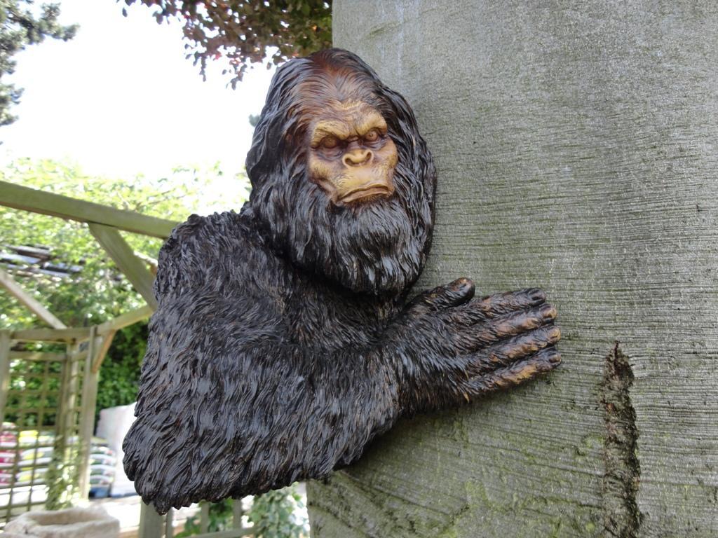 Bigfoot lawn ornament - Design Toscano Big Foot Tree Garden Ornament 1024x768