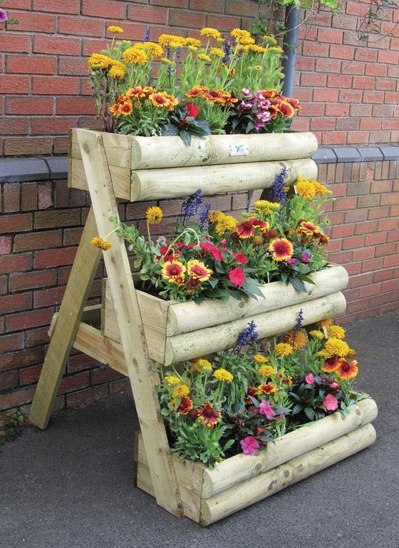 Multi Tiered Backyard : Multi Tier Wooden Garden Planter by MandM Timber Sturdy 3 tier
