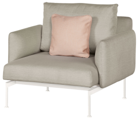 with Arctic White Frame, Chalk Seat & Back Cushion