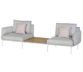 with Arctic White Frame, Chalk Seat & Back Cushions