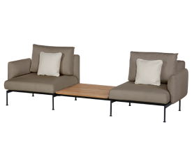 with Forge Grey Frame, Carbon Beige Seat & Back Cushions