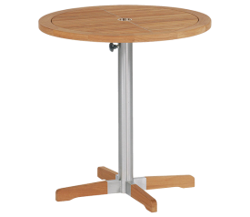 Equinox 70cm Circular Bistro Table with Stainless Steel Leg.