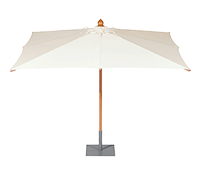 With Napoli Rectangular - Telescopic 3.5m x 2.5m Parasol