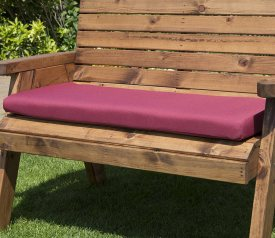 with Burgundy Double Cushion