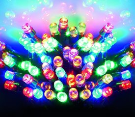 480 Light Set with MULTICOLOURED bulbs and GREEN cable