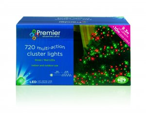 720 Red & Green LED Cluster Lights