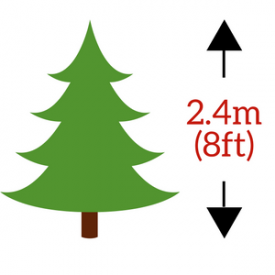 in 2.4m (240cm / 8ft) Height Size