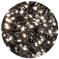 768 Warm White LED Cluster Lights with Dark Green Cable