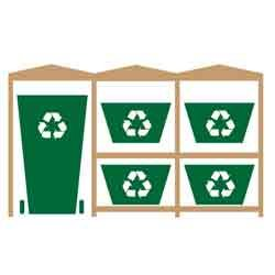 as a Single Wheelie Bin and 2 Recycling Bin Store Design