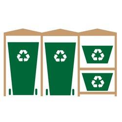as a Double Wheelie Bin and 1 Recycling Bin Store Design