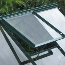 with Additional Roof Vent Window in MATCHING POWDER COATED COLOUR