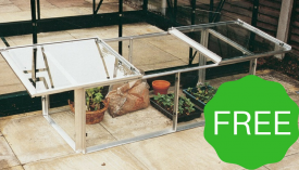 with FREE Elite 4ft x 2ft Alloy Coldframe