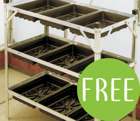 with FREE Elite 3 Tier Alloy Seed Tray