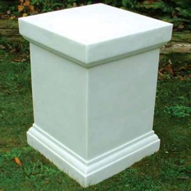with Large White Victorian Plinth