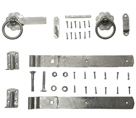 with Galvanised Ring Gate Latch Set