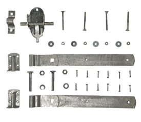 with Galvanised Pad Bolt Set