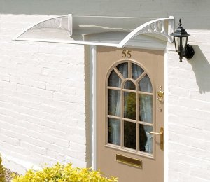 1m Door Clear Canopy WHITE