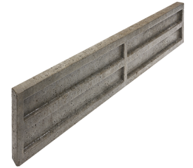 with 6ft Wide (150mm High) Concrete Gravel Board