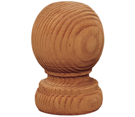 with Brown Ball Finial Post Cap